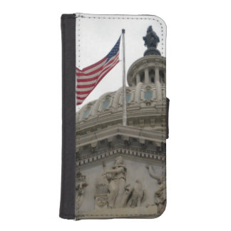 US Capitol Building with American Flag - East iPhone SE/5/5s Wallet Case