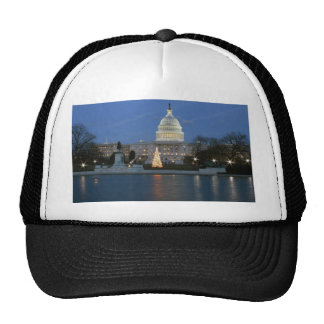 US Capitol celebrating Christmas photo Mesh Hats
