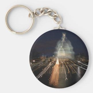 US Capitol celebrating Christmas photo Key Chain