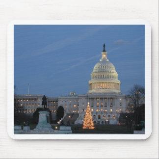 US Capitol celebrating Christmas photo Mouse Pad