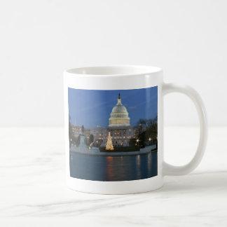US Capitol celebrating Christmas photo Coffee Mugs