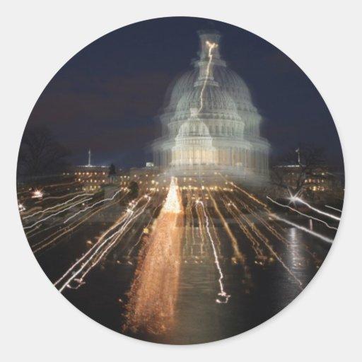 US Capitol celebrating Christmas photo Stickers