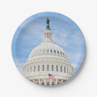 US Capitol Dome Paper Plate