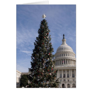US Capitol Hill christmas tree Greeting Card