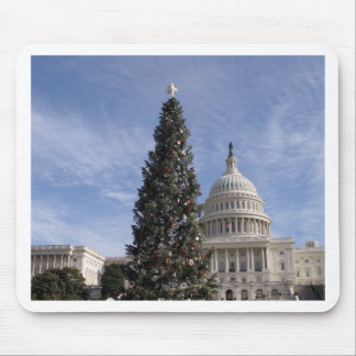 US Capitol Hill christmas tree Mouse Pad