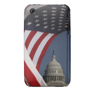 US Capitol with American flag iPhone 3 Covers