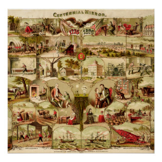 US Centennial History 1776-1876 Print