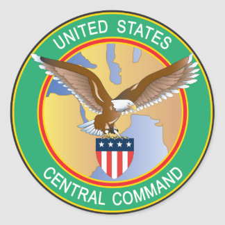 US Central Command CENTCOM Classic Round Sticker