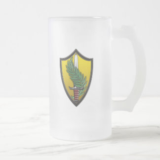 US Central Command Frosted Glass Mug