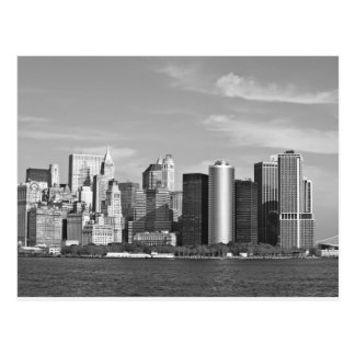 US Cityscape: New York Skyline #2 [Grayscale] Postcard