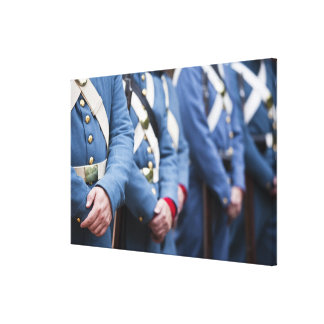 US Civil War-era Marines, military Canvas Print