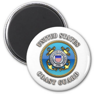 US Coast Guard 6 Cm Round Magnet