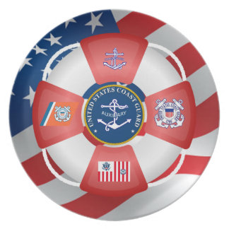 US Coast Guard Auxiliary Anchor Party Plate