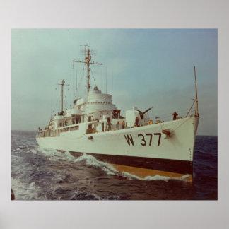 US Coast Guard Cutter Rockaway WAVP-377 Poster