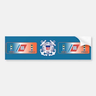 US Coast Guard CWO-2 Shield Bumper Sticker