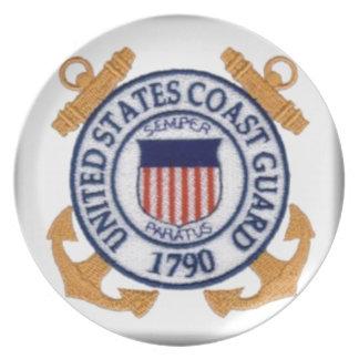 US Coast Guard Emblem1 Party Plate