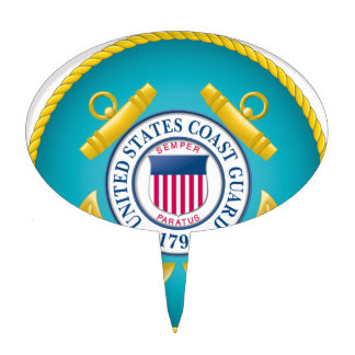 US Coast Guard Emblem Cake Toppers