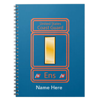 US Coast Guard Ensign Logo Spiral Notebook