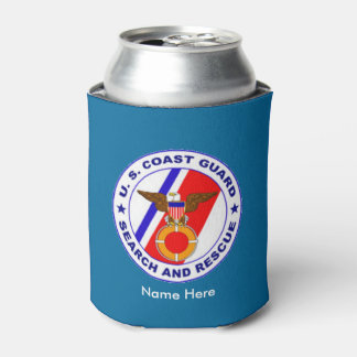 US Coast Guard Search & Rescue Custom Can Cooler