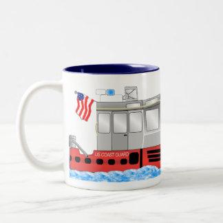 US Coast Guard Two-Tone Coffee Mug