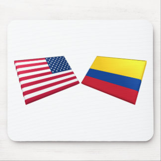 US & Colombia Flags Mouse Mat