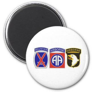 US Combat Service Identification Badges 6 Cm Round Magnet