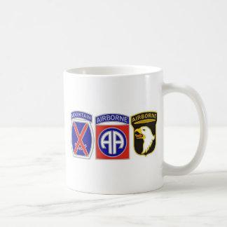 US Combat Service Identification Badges Basic White Mug