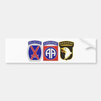 US Combat Service Identification Badges Bumper Sticker