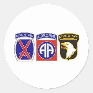 US Combat Service Identification Badges Round Sticker