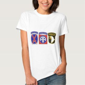 US Combat Service Identification Badges T-shirt