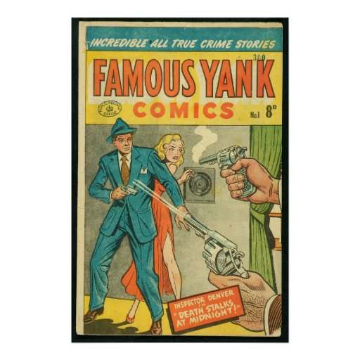 US comic - Famous Yank Print