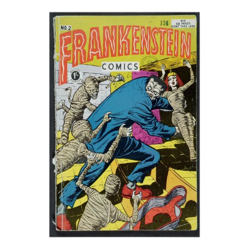 US comic - Frankenstein Print
