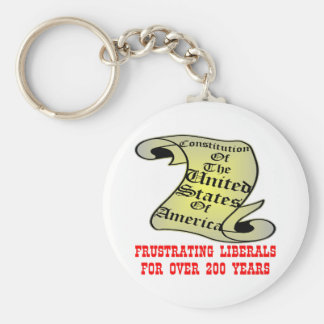US Constitution Frustrating Liberals Over 200 Year Basic Round Button Key Ring