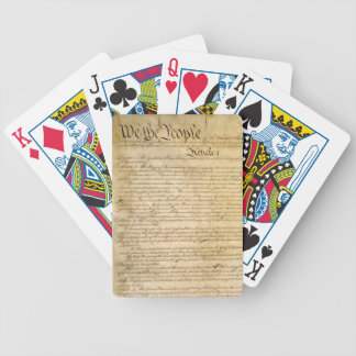 US Constitutional Freedoms - Know Your Rights! Bicycle Playing Cards