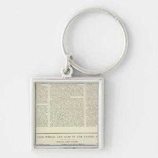 US Corn, Wheat, and Oats, 1870-1891 2 Key Ring