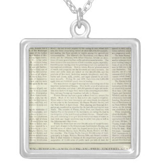 US Corn, Wheat, and Oats, 1870-1891 Silver Plated Necklace