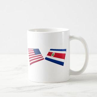 US & Costa Rica Flags Coffee Mug