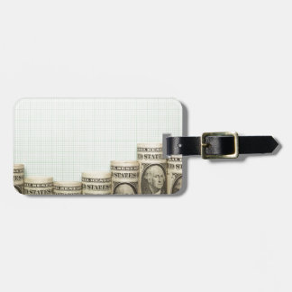US currency uptrend graph Bag Tags