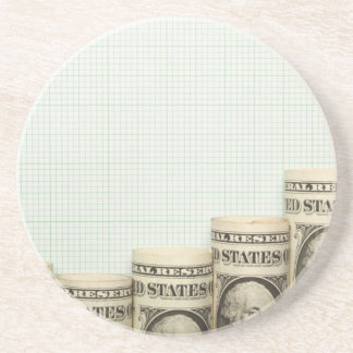 US currency uptrend graph Drink Coaster