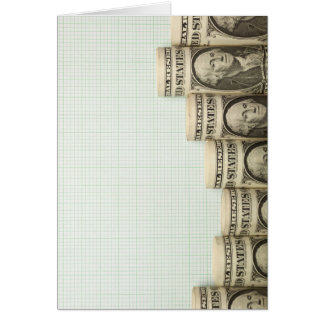 US currency uptrend graph Greeting Card