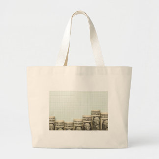 US currency uptrend graph Jumbo Tote Bag