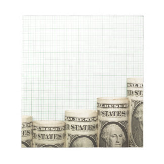 US currency uptrend graph Memo Note Pad