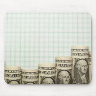 US currency uptrend graph Mouse Pad