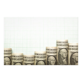 US currency uptrend graph Personalised Stationery