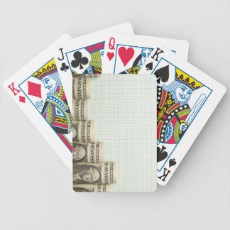 US currency uptrend graph Poker Cards