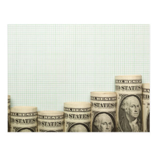 US currency uptrend graph Postcard