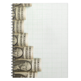 US currency uptrend graph Spiral Note Books