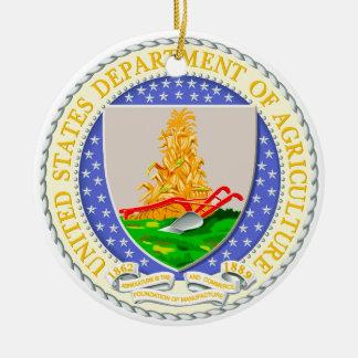 US Dept Of Agriculture Seal Round Ceramic Decoration