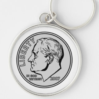 US Dime Ten Cents Key Ring