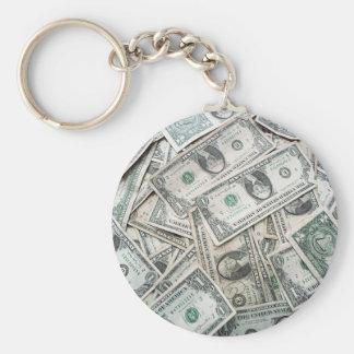 US Dollar Basic Round Button Key Ring